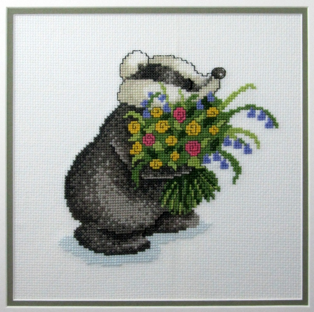 "Another completed cross-stitch from the ""Country Companions"" series by DMC."
