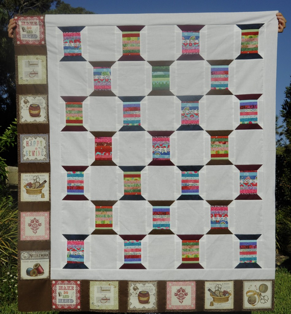 A completed quilt top - in less than a week!