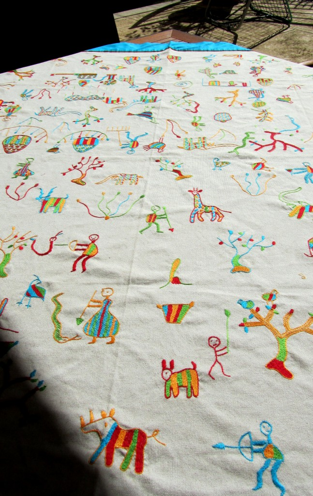 Beautiful hand embroidered tablecloth from Namibia.