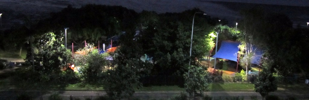 Muddy's Playground on the baordwalk in Cairns. At night, it took on an almost fairy-like quality.