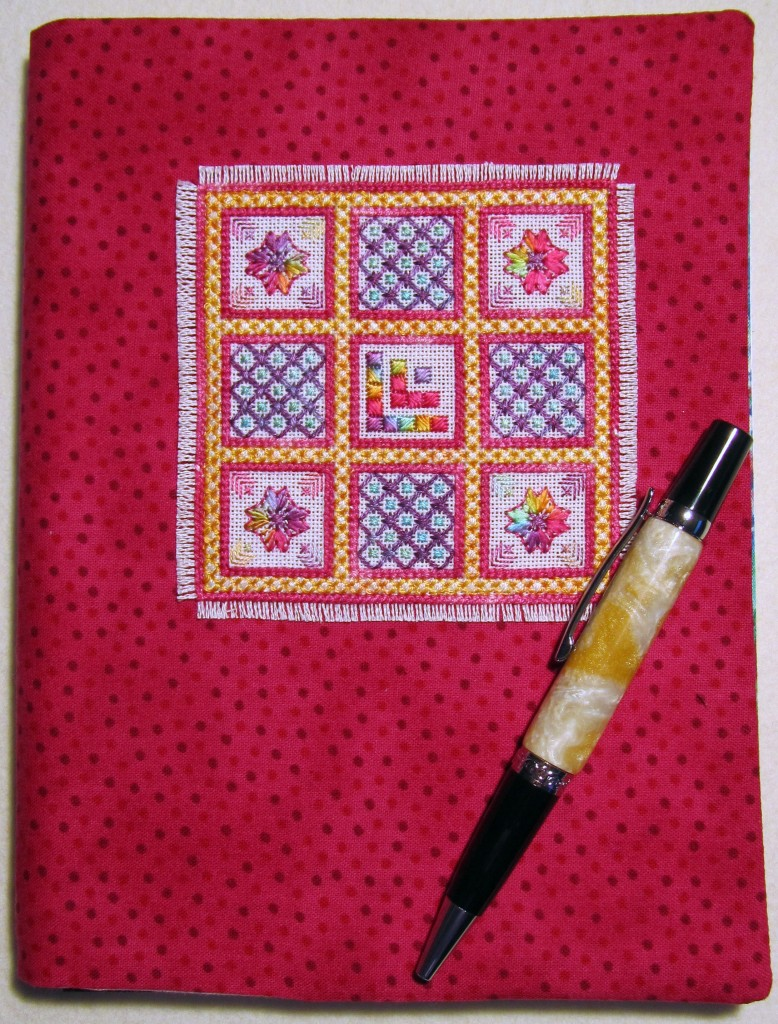 Sharing a little piece of everyday creativity - an A5 journal cover embroidered for a friend.