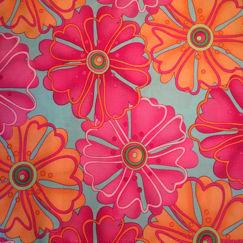 Bold flower fabric
